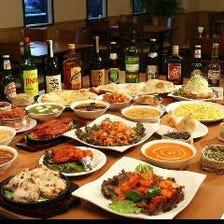 お腹いっぱいインド料理が楽しめる
