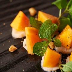 富有柿とホタテ×白富有柿と帆立のカルパッチョ