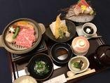 極み御膳 和牛と海鮮をお好みの焼き加減でお楽しみ下さい。