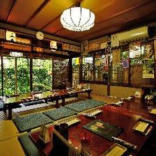 雰囲気のある京古民家でほっこり宴会