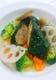 鶏肉と根菜のインボルティーニ。黒キャベツ・カーボロネロ