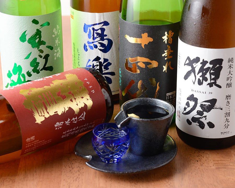 厳選の日本酒 純米酒のみの取り扱い