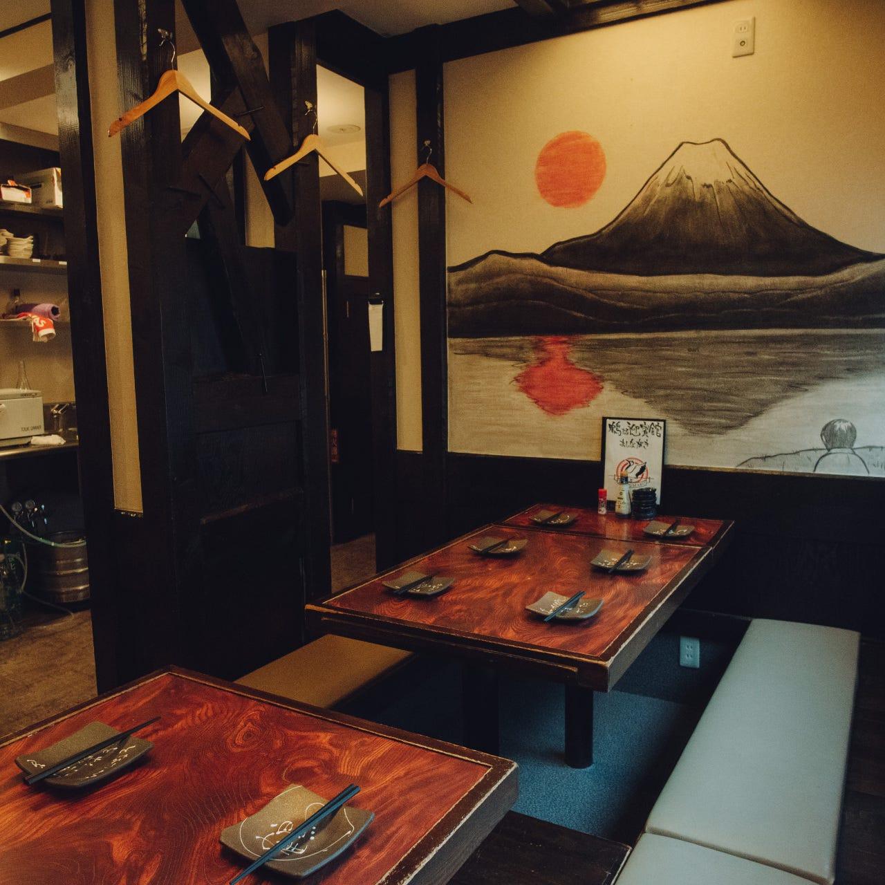 富士山が目印!おしゃれな展開で宴会