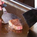 黒毛和牛の美味しさをダイレクトに伝える調理方法