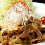 黒豚の味噌炒め御膳+ビュッフェ