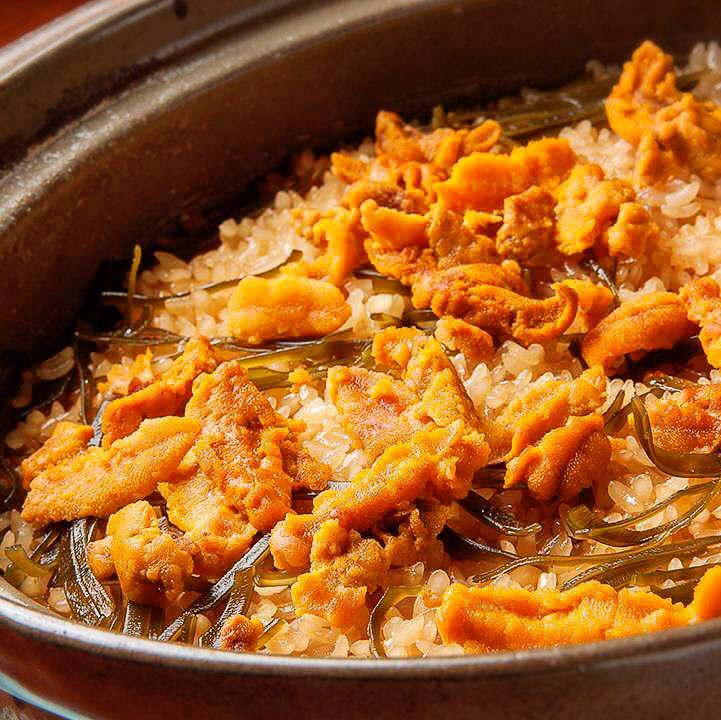 なむら一番人気『うに土鍋ご飯』 うにを贅沢に味わえる逸品!