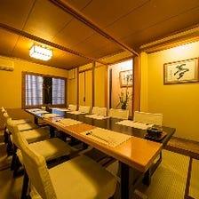 宴会・接待に使える個室を完備