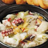 明石鮮魚のアヒージョ