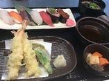 寿司・天ぷら定食