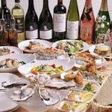 牡蠣好きのための牡蠣づくしコース♪初来店のお客様にもおすすめ!