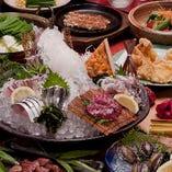 九州盛、もつ鍋、佐賀牛ロースが楽しめる「特選九州食べ歩きコース」飲放付6,000円