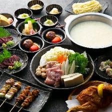 丹波地鶏の白濁水炊き鍋を堪能!