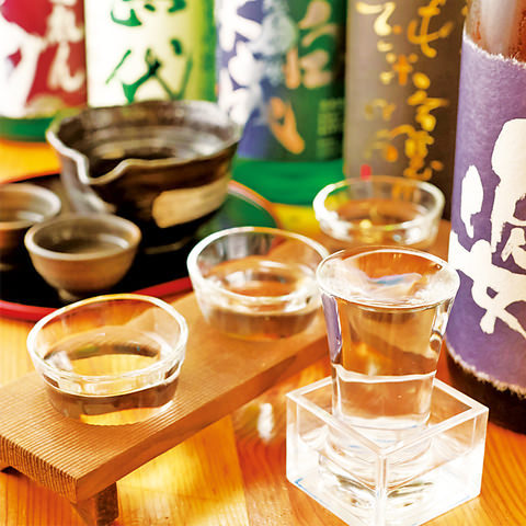 天ぷらと一緒にご賞味頂きたい日本酒は料理長が厳選しました。