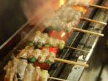 1980年からの変わらぬ串焼き、豚(ホエー豚)の肉巻串