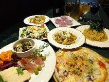 NEWスタンダード パーティーメニュー シーフードピザ付 飲み放題120含む