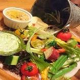 愛媛県で採れた新鮮な野菜をふんだんに使ったイタリアン。