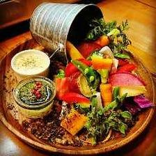 ◆地元の厳選野菜を使用