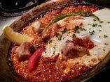 京赤地鶏と野菜と玉子のパエージャ
