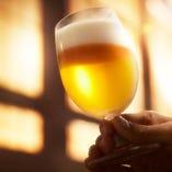 お料理と一緒に、当店自慢の豊富なビールをお楽しみください