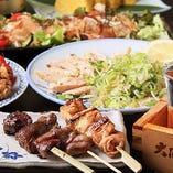 【120分飲み放題付】きわみ宴会3,000円コース〈全7品〉◆名物焼き鳥3種・たたきを満喫