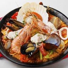 ◆新鮮魚介のバルマルパエリア