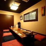 完全個室のお座敷完備。 貸切は30名様より受付致します。