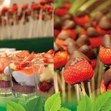 苺のデザートビュッフェ