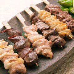 阿波尾鶏 串焼き盛合せ
