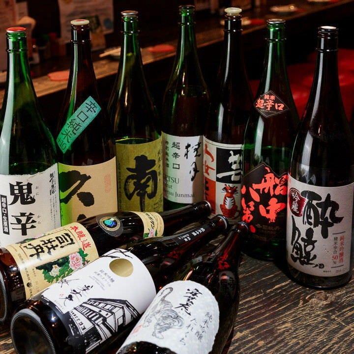 高知の日本酒がずらり!