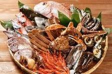 佐渡沖で獲れた旬の魚介を堪能