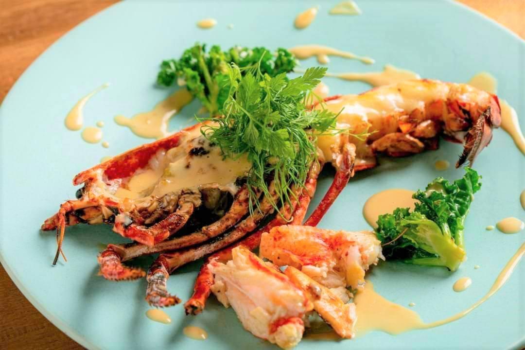 ディナーは海鮮をふんだんに。