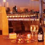 デートに!お台場の絶景!レインボーブリッジ、東京タワーの夜景が楽しめるお席♪
