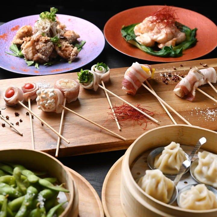 小籠包もエビマヨもカラアゲも!人気料理+飲放コース3,980円~
