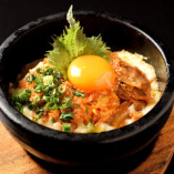 石鍋豚キムチーズ炒飯