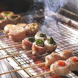 野菜を豚肉で包んだ串焼きが人気! 【名物】博多串焼き
