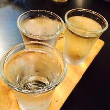日本酒3種を飲み比べ!888円(税抜)