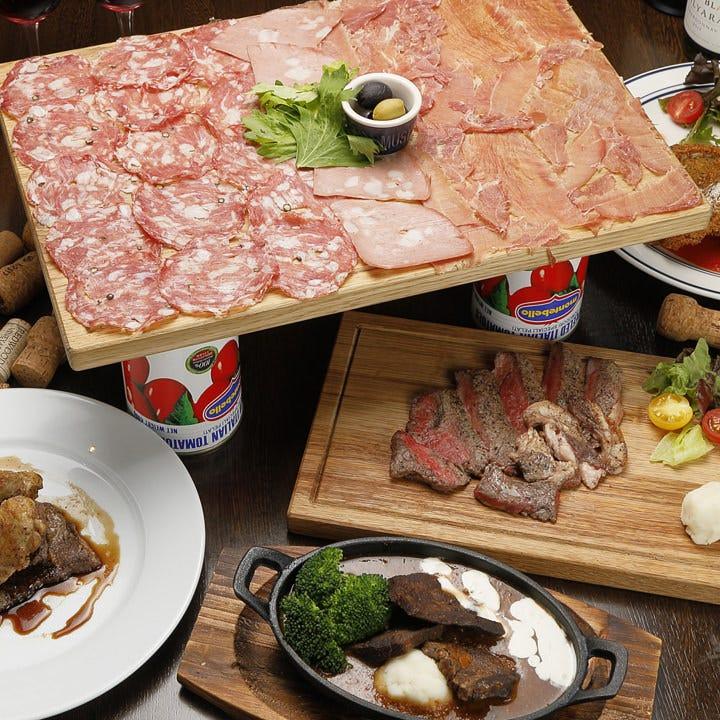 イタリア産生ハムや多彩なお肉料理
