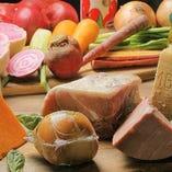 ◇こだわり◇農園直送の野菜やイタリア産の生ハム