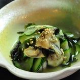 牡蠣ときゅうりの酢の物