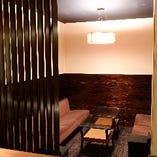 5~8名様用の半個室のお席もございます。