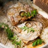 土鍋で生米から炊きあげる出汁薫る鯛めし!!〆で味わう贅沢