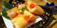 海老・チーズ・トマトの春巻き