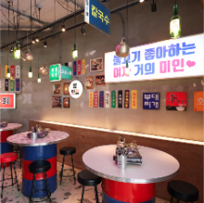 韓国の屋台のような本場の雰囲気