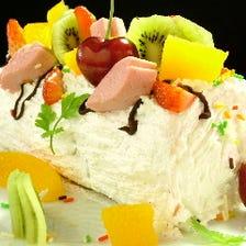 歓送迎会用やお祝い事にケーキも可♪