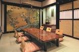 こちらの個室はご接待や記念日にも最適な和の上質空間です。