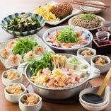 醤油糀と生姜が香るほかほか田舎鍋を囲む宴