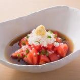 蕎麦屋の冷やしトマト