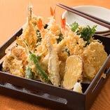 季節の天ぷら七種盛り