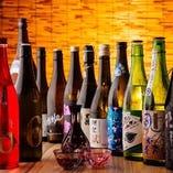 地酒は当店で決まり。 常時60種のラインナップでお出迎えします