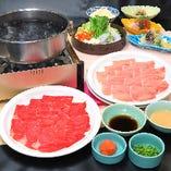 牛・豚ロース肉しゃぶしゃぶ食べ放題プラン(飲み放題付き)